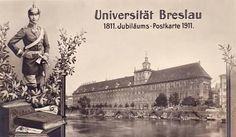 Breslau: The University City of Breslau with the Crown Prince of Prussia in the uniform of the 2nd Kurassier Regiment.
