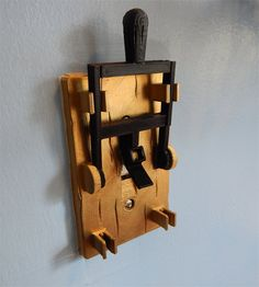 3D Printed Light Switch Cover with Flip Handle Switch Plate