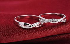 Free Engrave Platinum Infinity Rings Wedding Couples Rings Lovers Rings His And Hers Promise Ring Sets Wedding Rings Matching Ring Wedding Rings Sets His And Hers, Matching Wedding Rings, Infinity Ring Wedding, Cool Wedding Rings, Silver Wedding Rings, Matching Rings, Wedding Bands, Infinity Rings, Wedding Couples