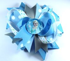 Boutique Disney Frozen Inspired Planar Resin Hair Bow Clip by prettybowtique on Etsy