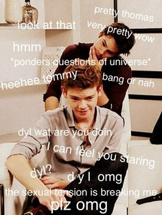 Newtmas yes ❤️ << Dylmas actually The Maze Runner, Maze Runner Funny, Maze Runner Thomas, Maze Runner Movie, Maze Runner Trilogy, Maze Runner Series, Cute Actors, Film Books, Thomas Brodie Sangster