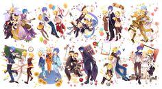 Vocaloids - Len & Rin Kagamine (鏡音レンとリン), & KAITO Shion (始音 カイト)