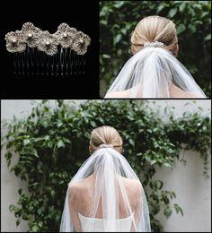 Tocado de novia tejido con hilo de plata SILVER HANDMADE HEADPIECE www.hilosdeplata.com