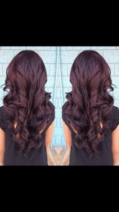 Red brown curly hair