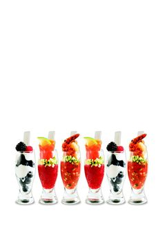 6 Apero glasses with spewns 17.99