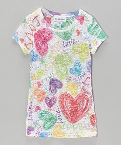 Another great find on #zulily! Bright 'Love' Tissue Tee - Kids #zulilyfinds