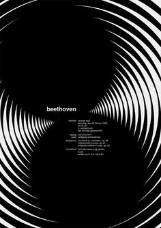 "Jessica Svendsen is producing a new iteration of the Josef Müller-Brockmann ""Beethoven poster"", every day for 100 days as part of the Michael Bierut 100 Days Workshop at the Yale School of Art."