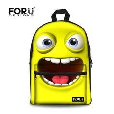 For U Designs Cartoon-Style Expression backpack bag Rucksack Bookbag Satchel Kid #FORUDESIGN #Backpack