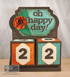 Hello!  It's Lisa Silver  here today with details on how to create your own Perpetual Calendar with paper.     I was inspired by so ma...