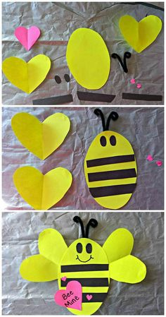 Simple origami bee paper craft