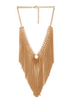 Underground Chain Fringe Necklace | FOREVER21 #Accessories #Necklace #Fringe