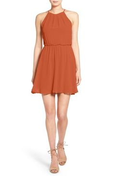 Lush Blouson Chiffon Skater Dress available at #Nordstrom