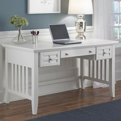 Give your den, master suite, or home office a studied air with this handsomely crafted desk, perfect for penning correspondence and working from home.