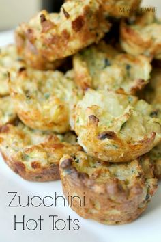 Zucchini Hot Tots are an awesome appetizer or a yummy treat for a brunch!!! #zucchinirecipe #zucchini