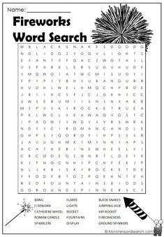 Fireworks Phrase search extra at @ - Travels Printable Crossword Puzzles, Free Printable Word Searches, Learn French, Learn English, English Class, Phonics Activities, Preschool Phonics, Grammar Lessons, Writing Lessons