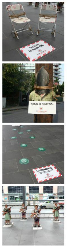torture australian red cross guerrilla marketing