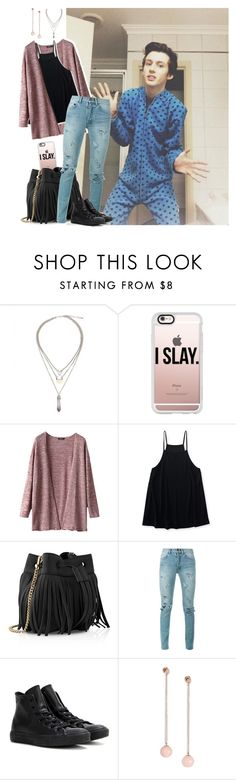"""""""Collab w/Troye"""" by coolflower2k ❤ liked on Polyvore featuring Casetify, Aéropostale, Whistles, Yves Saint Laurent, Converse, Michael Kors, YouTubers, youtube, Youtuber and troyesivan"""