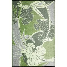 Found it at AllModern - Blossom Reversible Design Green & Gray Outdoor Area Rug