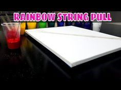 Today, I'm doing a long rainbow string pull video. For this beautiful rainbow string art, I wanted to use a lot of colors to get the rainbow string pull effe. String Art, Abstract Expressionism, Rainbow, Colors, Youtube, Painting, Beautiful, Rain Bow, Rainbows