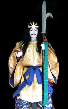 Japanese mythical God Oonamuchi. Japanese doll by Kougetsu ( doll shop ). Kimono .