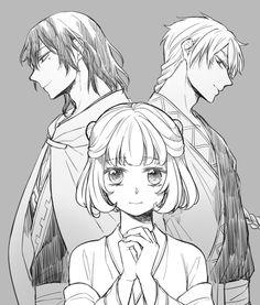 Akatsuki no Yona / Yona of the dawn anime and manga || Second princess of Xing kingdom Princess Tao, Voldo, and Argila Art by CB on Twitter