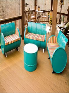 Topsail Chair and Table Collection with Colored Cushions (Set of 4) - ZallZo