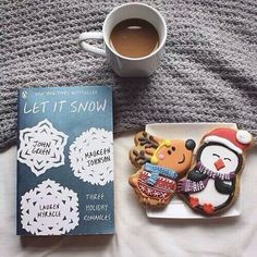 holiday book + cookies