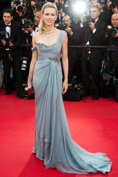 All The Best From The Cannes Red Carpets #refinery29  http://www.refinery29.com/2014/05/68261/best-dressed-cannes-2014#slide6  A one-shouldered, goddess-draped Marchesa gown might not be breaking new molds, but when it's done well — as it is on Naomi Watts — there are few things as W-O-W-worthy.