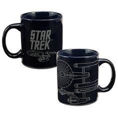 5618ffbc3f5 Star Trek Original Series Enterprise Mug $6.99 Star Trek Trivia, Star Trek  Mug, Star