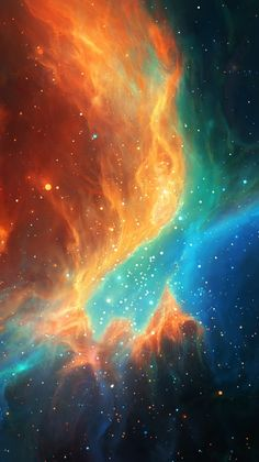 Colorful-Space-Galaxy-Nebula-iPhone-Wallpaper