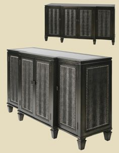 Modern Black Croco Sideboard   Gail's Accents   Home Gallery Stores