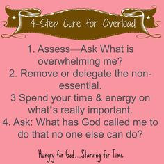 If you're feeling overwhelmed today, this post will you assess, eliminate, and maximize your time and energy. Double click on the image to read the 5-minute post, Hungry for God: Are You Unbalanced? Three Questions