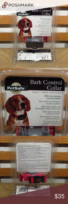 PetSafe Bark Control Collar Training System This is a New PetSafe Bark Control Collar Training System PBC-102 Model. It comes new stilled sealed in the original package (see pictures).  PBC-102 Features:  Bark Control Collar,  For dogs 8 pounds and up,  Automatically adjust to your dog's temperament,  6 levels of static correction,  Vibration sensor detects dog's vocal chords moving,  Lightweight, waterproof receiver collar,  Good/low battery indicator,  Convenient & Easy-to-use. Other