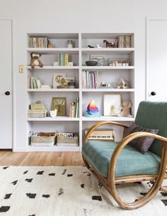 Bookshelves are one of the most fulfilling ways to decorate a space, and in a child's room they're doubly compelling as a stimulus to creativity. | Lonny.com