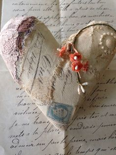 Valentine Heart - a special Valentines Commission - Caroline Lingwood , boo and the Angel My Funny Valentine, Valentines Art, Valentine Special, Valentines Day Hearts, Vintage Valentines, Heart With Wings, I Love Heart, Lace Heart, Heart Art