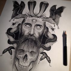 Skull illustrations by Paul Jackson