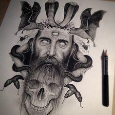 Skull illustrations by Paul Jackson