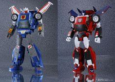 Transformers Masterpiece MP-25 Tracks and MP-26 Road Rage comparison