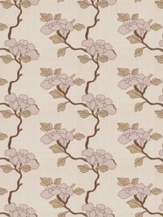 Click to Enlarge  ASIAN FLORAL LAVENDER BY FABRICUT