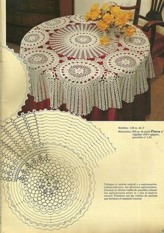 "Photo from album ""скатерти,салфетки"" on Yandex. Crochet Butterfly, Crochet Flower Patterns, Crochet Art, Doily Patterns, Crochet Home, Crochet Motif, Vintage Crochet, Crochet Table Topper, Crochet Tablecloth Pattern"