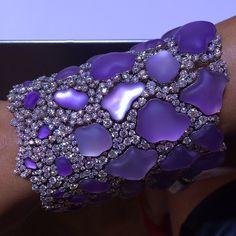 Diamond Jewelry Amethyst and Diamond bracelet by CHIMENTO Jewels- ☆Jewelry Week - Sapphire Bracelet, Diamond Bracelets, Diamond Jewelry, Ankle Bracelets, Stylish Jewelry, Modern Jewelry, Fine Jewelry, Women's Jewelry, Jewelry Stores