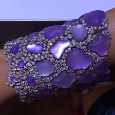 Amethyst and diamond bracelet by @chimentojewels at #couture #couture2014 #jewelry #jewelryweek2014 @doraziopr