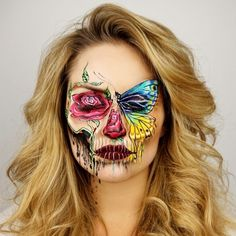 This MUA's Insane Skeleton Creations Make Us Want Halloween to Come Early The post This MUA's Insane Skeleton Creations Are Winning Halloween appeared first on Best Pins for Yours - Makeup Ideas Skeleton Makeup, Skull Makeup, Makeup Art, Eye Makeup, Makeup Ideas, Cool Makeup Looks, Halloween Makeup Looks, Crazy Makeup, Butterfly Makeup