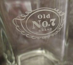 For sale in our Ebay store...click photo for full details!   Jack Daniels Old No.7 Brand Tennessee Whiskey Shot Glass Signed Square Bottom #JackDaniels