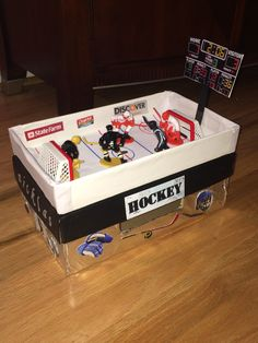 hockey valentines boxes for boys ; hockey valentines boxes for kids Valentines Day Care Package, Valentine Day Boxes, Valentines For Boys, Valentine Treats, Valentines Day Party, Daycare Crafts, Crafts For Kids, Holiday Crafts, Holiday Fun
