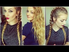 TUTO Tresses collées + Ondulations - YouTube