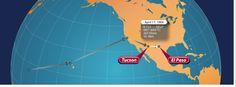 "Almost home...""4.17.64 Tucson to El Paso was a short flight...landing at 7:45 a.m. El Paso time..."""