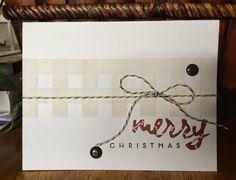 Paper Trey Ink PTI Wet Paint Holidays  Autumn Pattern Pieces CAS Christmas Card Set