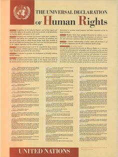 The Universal Declaration of Human Rights is a declaration adopted by the United Nations General Assembly on 10 December 1948 at Palais de Chaillot, Paris. The Declaration arose directly from the experience of the Second World War and represents the first global expression of rights to which all human beings are inherently entitled. The full text is published by the United Nations on its website ~ http://www.un.org/en/documents/udhr/ #myt