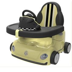 Babies R Us VW Beetle Booster Seat - Yellow